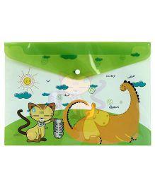 Fab N Funky Envelope Folder Green - Animal Print