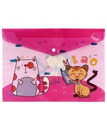 Fab N Funky Envelope Folder Pink - Cat Print