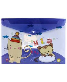 Fab N Funky Envelope Folder Blue - Cat Print