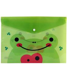 Fab N Funky Envelope Folder Pouch Green - Frog Print