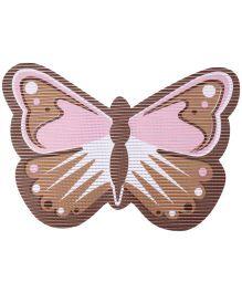 Fab N Funky EVA Room Mat Brown - Butterfly Design