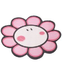 Fab N Funky EVA Room Mat Pink - Sunflower Shape