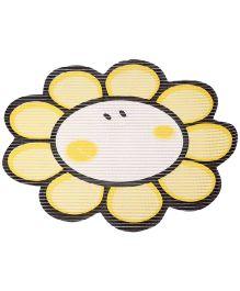 Fab N Funky EVA Room Mat Yellow - Sunflower Shape