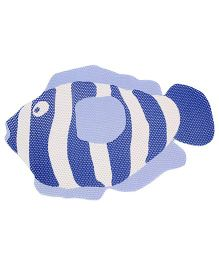 Fab N Funky EVA Room Mat White And Blue - Fish Design