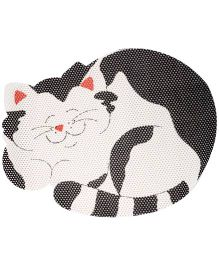 Fab N Funky EVA Room Mat Black And White - Cat Design