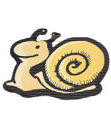 Fab N Funky Eva Mat Yellow - Snail Design