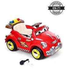 Babyhug Kids Rally Racer Car 6V Rechargeable Battery Operated Ride On - Red