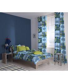 D'Decor - Little Rock Star Navy Single Bed Sheet Set