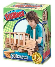 CitiBlocs Natural Wooden Building Blocks - 200 Pieces