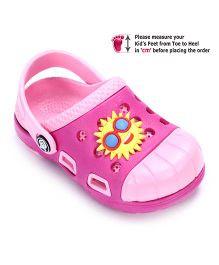 Cute Walk Clog Dual Color - Sun Applique