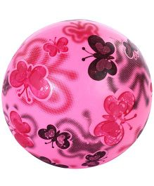 Fab n Funky Kids Ball Butterfly Print - Pink