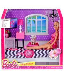 Barbie Deluxe Bedroom Set With Doll