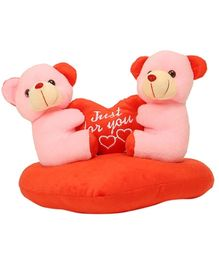 DealBindaas Stuff Toy Teddy Bear Couple On Heart - 25 cm