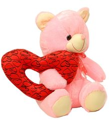DealBindaas Stuff Toy Teddy With Ring Heart - 25 cm