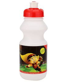 Chhota Bheem Water Bottle Red And White - 425 ml