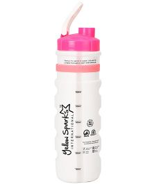 Chhota Bheem Sipper Water Bottle White And Pink - 710 ml