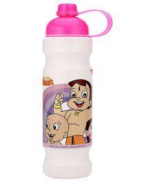 Chhota Bheem Water Bottle Pink And White - 900 ml