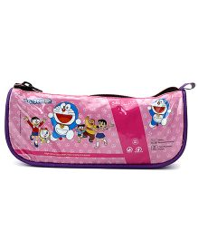 Doraemon Plastic Pencil Pouch - Pink