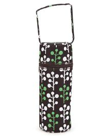 1st Step Insulated Single Bottle Cover Bag - Plant Print