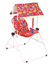 Infanto Rocko Swing Red Elephant And Multi Print - Red