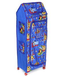 Lovely Almirah 4 Shelves Storage Unit Blue - Puppy Print