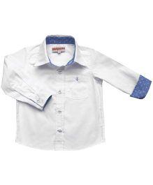 Campana Full Sleeves Formal Shirt - White