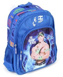 WWE School Back Pack John Cena Print Blue - 14 Inches