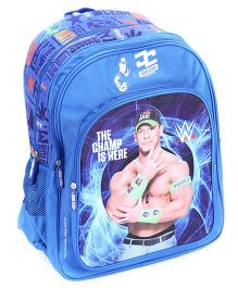 WWE School Back Pack John Cena Print Blue - 18 Inches