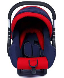 Fab N Funky Infant Car Seat With Adjustable Canopy - Red And Navy Blue
