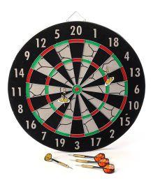 Super-K High Class Dart Board With 6 Darts - Black