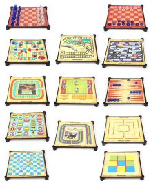 Toyzone 13 in 1 Family Board Games - Multicolor