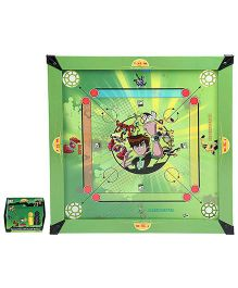 Ben 10 Wooden 2 In 1 Carrom Board With Ludo