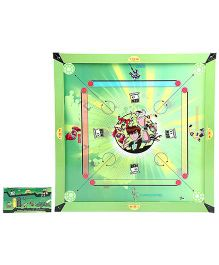 Ben 10 Wooden 2 In 1 Carrom Board With Ludo Big
