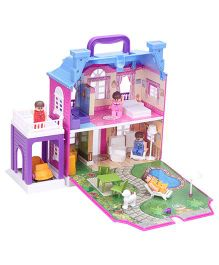 Toyzone Doll House Luxurious Villa Multi Color - 40 Pieces