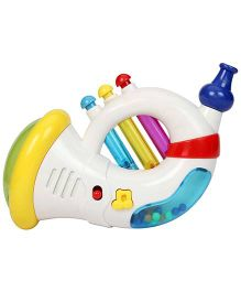 Mee Mee Musical Duo Trumpet - White And Multi Colour