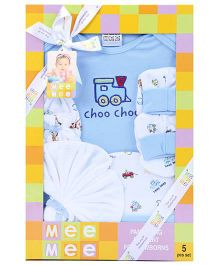 Mee Mee Pampering Present For New Born Blue - Pack of 5