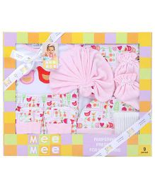 Mee Mee Pampering Present For New Born Pink - Pack Of 9