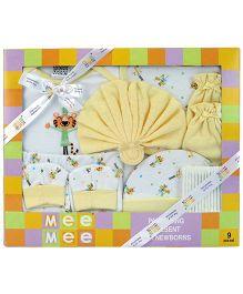 Mee Mee Baby Gift Set Yellow - Pack of 9