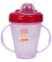 Mee Mee Twin Handle Non Spill Cup - Dark Pink