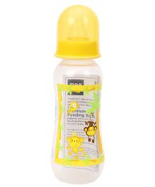 Mee Mee Polypropylene Plastic Premium Feeding Bottle  Yellow - 250 ml