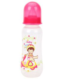 Mee Mee Polypropylene Plastic Premium Feeding Bottle  Pink - 250 ml