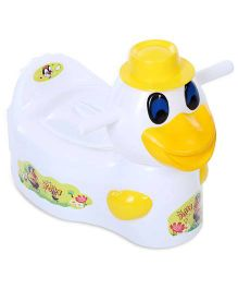 Toyzone Duck Shaped Potty Chair - White And Yellow