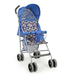 Luv Lap Baby Buggy Comfy With Mosquito Net - Blue - 18141