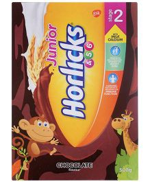 Junior Horlicks Stage 2 Chocolate Flavor - 500 gm Refill Pack