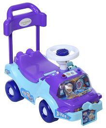 Toyzone Space Rider Manual Push Ride On - Purple And Sky Blue