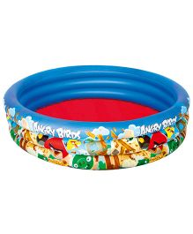 Angry Birds Printed 3 Ring Pool Blue - Capacity 317 Litres