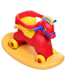 Toyzone Napoleon Horse 2 in 1 Ride On Cum Rocker - Red