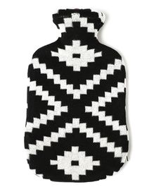 Pluchi Zumba Knitted Hot Water Bottle Cover - Black