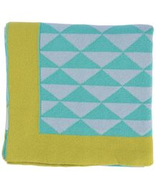 Pluchi Wedges Baby Blanket - Green And Yellow