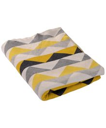 Pluchi Brent Kids Blanket - Yellow And Grey